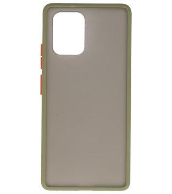 Kleurcombinatie Hard Case voor Samsung  Galaxy A81 Groen
