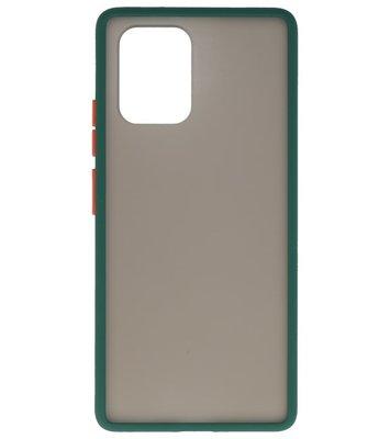 Kleurcombinatie Hard Case voor Samsung Galaxy A81 Donker Groen