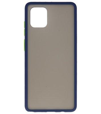 Kleurcombinatie Hard Case voor Samsung Galaxy A91 Blauw