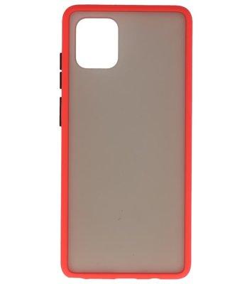 Kleurcombinatie Hard Case voor Samsung Galaxy A91 Rood