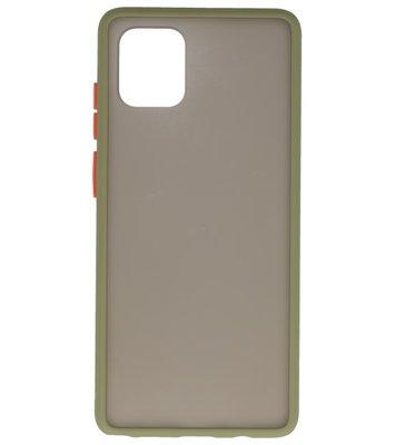 Kleurcombinatie Hard Case voor Samsung Galaxy A91 Groen