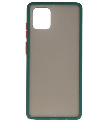 Kleurcombinatie Hard Case voor Samsung Galaxy A91 Donker Groen