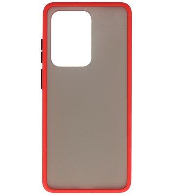Kleurcombinatie Hard Case voor Samsung Galaxy S20 Ultra Rood