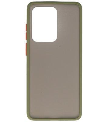 Kleurcombinatie Hard Case voor Samsung Galaxy S20 Ultra Groen