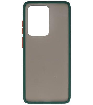 Kleurcombinatie Hard Case voor Samsung Galaxy S20 Ultra Donker Groen