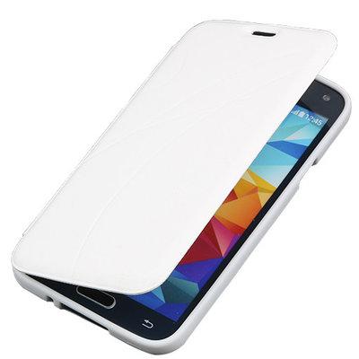 Bestcases Wit TPU Book Case Flip Cover Motief Hoesje voor Samsung Galaxy S5