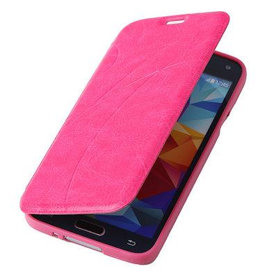 Bestcases Pink TPU Book Case Flip Cover Motief Hoesje voor Samsung Galaxy S5