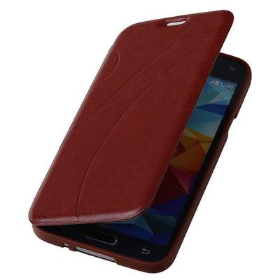 Bruin TPU Book Case Flip Cover Motief Samsung Galaxy S5 Plus