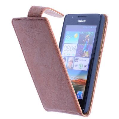 BestCases Bruin Kreukelleer Flipcase Huawei Ascend G510