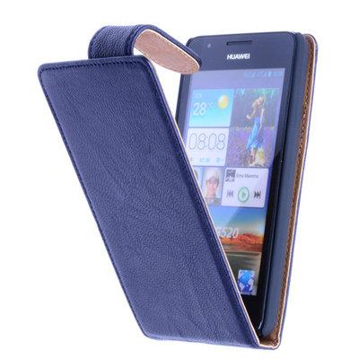 BestCases Navy Blue Kreukelleer Flipcase Huawei Ascend G510