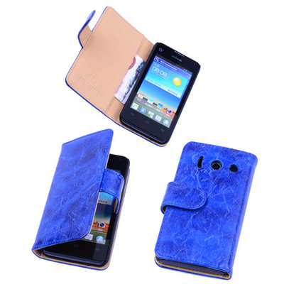 Bestcases Vintage Blauw Book Cover Huawei Ascend Y300