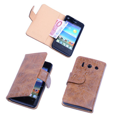 Bestcases Vintage Bruin Book Cover Huawei Ascend Y300