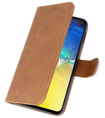 Booktype Wallet Cases voor de Samsung Galaxy Note 10 Lite Bruin