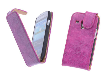 Bestcases Vintage Pink Flipcase Samsung Galaxy S3 Mini i8190