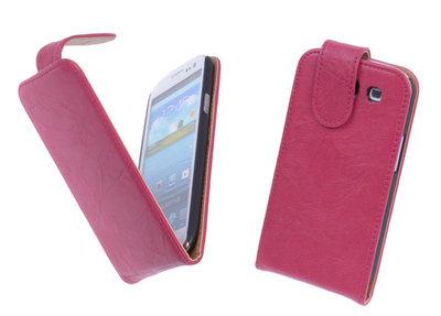 BestCases Luxe Kreukelleer Flipcase Hoesje voor Samsung Galaxy S3 Roze