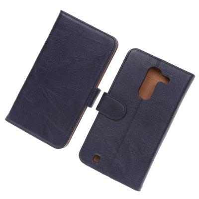 BestCases Navy Blue Luxe Echt Lederen Booktype Hoesje voor LG G Pro 2