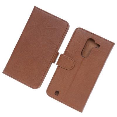 BestCases Bruin Luxe Echt Lederen Booktype Hoesje voor LG G Pro 2