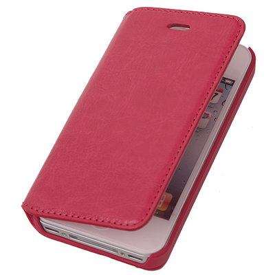 BestCases Fuchsia Map Case Book Cover Hoesje Apple iPhone 4 4s