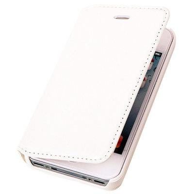 BestCases Wit Map Case Book Cover Hoesje voor Apple iPhone 4 4s