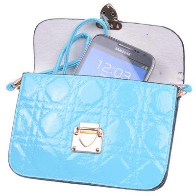 BestCases Turquoise Design Trendy Smartphone Wallet Kleine Handtas Schoudertas