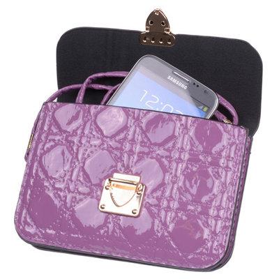 BestCases Paars Design Trendy Smartphone Wallet Kleine Handtas Schoudertas