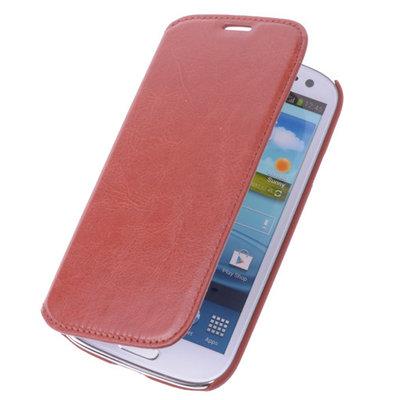 Best cases Garnet Rood Map Case Book Cover Hoesje voor Samsung Galaxy S4