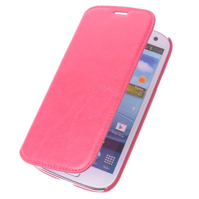 Bestcases Fuchsia Map Case Book Cover Hoesje voor Samsung Galaxy S4
