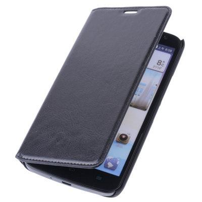 Bestcases Zwart Map Case Book Cover Hoesje Huawei Ascend G750