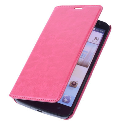 Bestcases Fuchsia Map Case Book Cover Hoesje voor Huawei Ascend G610