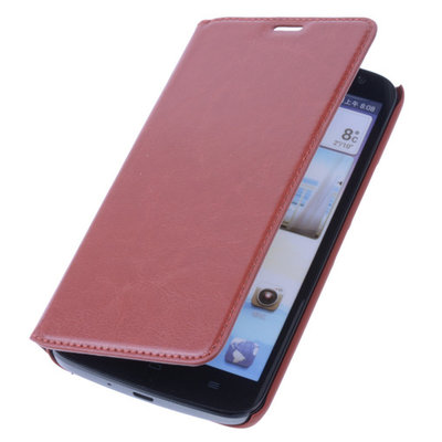 Bestcases Rood Map Case Book Cover Hoesje voor Huawei Ascend G610