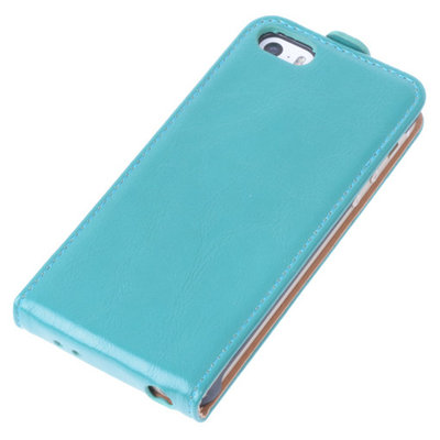 Bestcases Groen Antiek Flip Case Hoesje Apple iPhone 5 5S