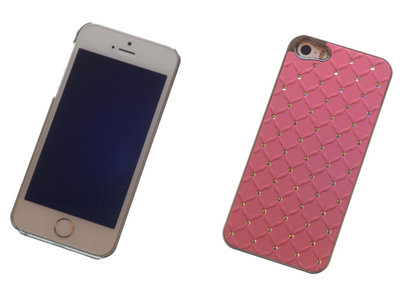 Backcover Rose Met Strass-Steentjes Hoesje Apple iPhone 5 / 5s