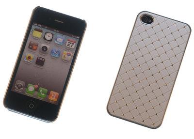 Backcover Wit Met Strass-Steentjes Hoesje Apple iPhone 4 / 4s