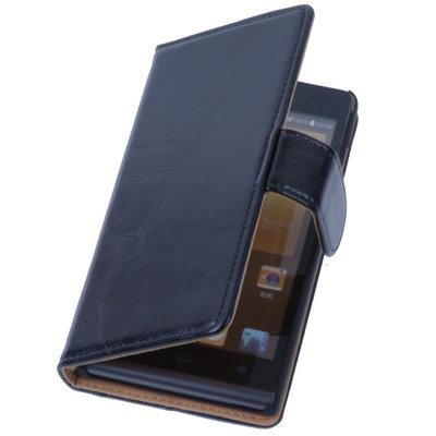 PU Leder Zwart Hoesje voor LG L90 Book/Wallet Case/Cover