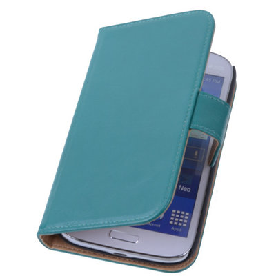PU Leder Groen Hoesje voor Samsung Galaxy Grand Neo Book/Wallet Case/Cover