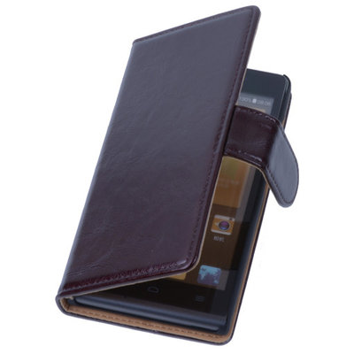 PU Leder Mocca Hoesje voor Nokia Lumia 1020 Book/Wallet Case/Cover
