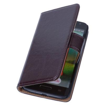 PU Leder Mocca Hoesje voor LG L9 2 Book/Wallet Case/Cover