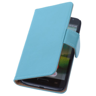 PU Leder Turquoise Hoesje LG L9 2 Book/Wallet Case/Cover