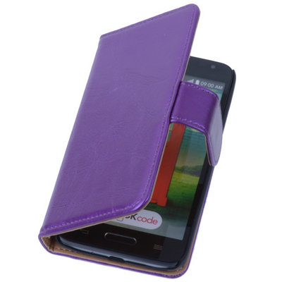 PU Leder Lila Hoesje voor LG L9 2 Book/Wallet Case/Cover