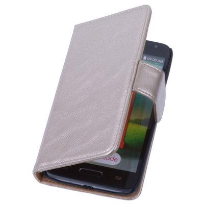 PU Leder Goud Hoesje voor LG L9 2 Book/Wallet Case/Cover