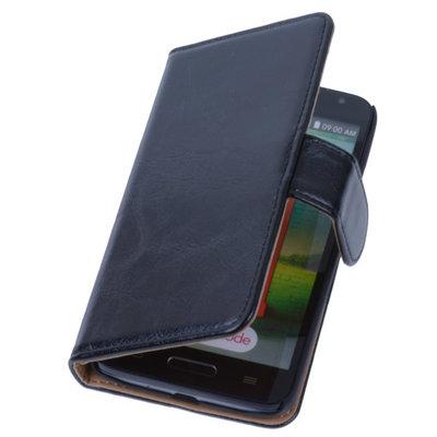 PU Leder Zwart Hoesje voor LG L9 2 Book/Wallet Case/Cover