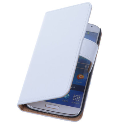 PU Leder Wit Hoesje voor Samsung Galaxy S3 Book/Wallet Case/Cover