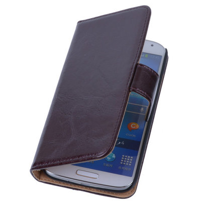 PU Leder Mocca Hoesje voor Samsung Galaxy S3 Book/Wallet Case/Cover