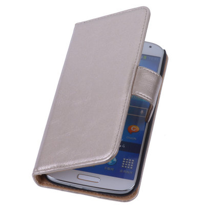 PU Leder Goud Hoesje voor Samsung Galaxy S3 Book/Wallet Case/Cover