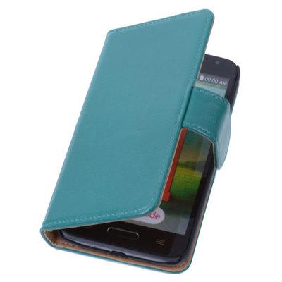 PU Leder Groen Hoesje voor LG L90 Book/Wallet Case/Cover