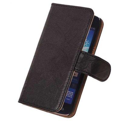 BestCases Stand Zwart Hoesje voor Samsung Galaxy Core LTE Echt Lederen Book