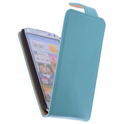 Classic Turquoise Hoesje voor HTC Desire 210 PU Leder Flip Case