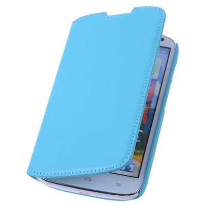 Bestcases Turquoise Map Case Book Cover Hoesje voor Huawei Ascend P6