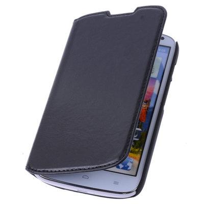 Bestcases Zwart Map Case Book Cover Hoesje voor Huawei Ascend Y600