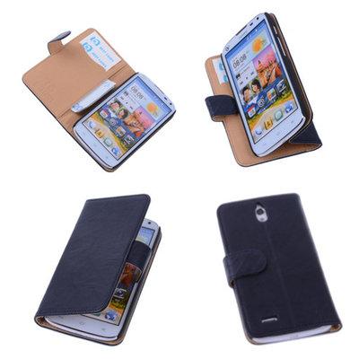 BestCases Nevy Blue Hoesje voor Huawei Ascend G610 Luxe Echt Lederen Booktype